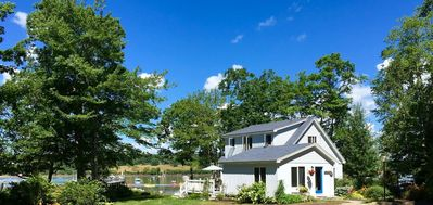 Photo for Lovely waterfront cottage with gorgeous views of Pemaquid Harbor. Sleeps 6.