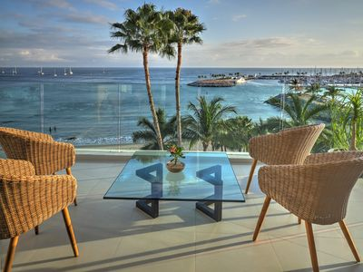 Photo for Brand New On the Ocean,  sandy beach and infinity pool, walking distance to town