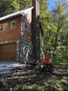 Photo for A *MODERN* studio style log cabin located peacefully 15-20 minutes from Boone.