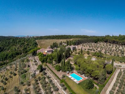 Photo for FABULOUS 6BD - 6BA VILLA WITH STUNNING POOL & VIEWS IN TOP CHIANTI LOCATION!