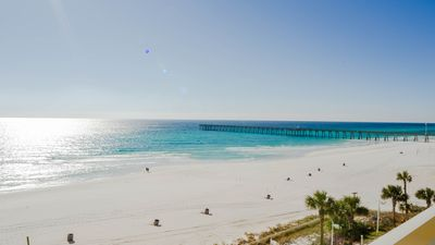 Photo for Calypso 503W - 1bdrm/2bth Gulf Front Walk to Pier Park FREE BEACH SERVICE