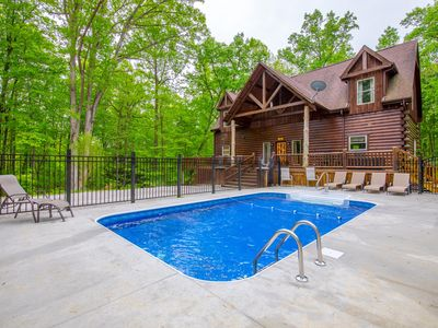 Photo for Impressive 5 bedroom lodge with seasonal in ground pool and new custom theater. Near Cantwell Cliffs