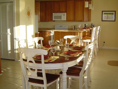 Kitchen dining area with seating for 10