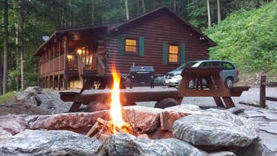 """Photo for """"Living The Dream"""" - Private Log Cabin w/ Mountain Views Has It All!"""