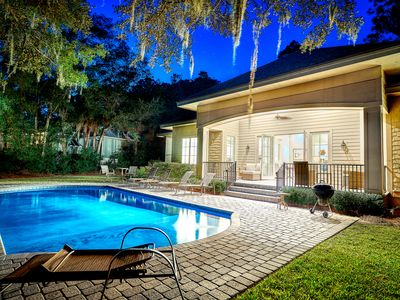 Photo for 43 S Sea Pines Dr - 5BR/5BA  in Sea Pines! Sleeps 15. Private pool & dock!