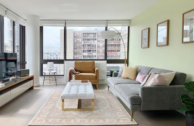 Photo for MODERN CORNER 1br in the HEART OF NYC - SWEEPING CITY VIEWS