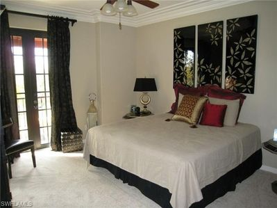 Master bedroom with balcony - King
