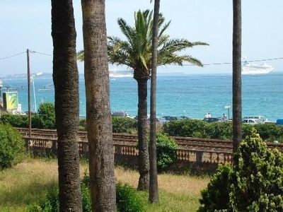 Photo for Large air-conditioned studio facing the sea - Cannes-La-Bocca - 4 people