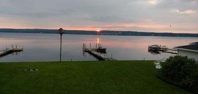 Photo for Vacations on the lake, great view, own dock+fire pit+BBQ+parking+close to centre