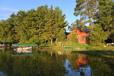 Lakeside view of the new cottage.  Mid-summer of 2013.  Idyllic? We think so too