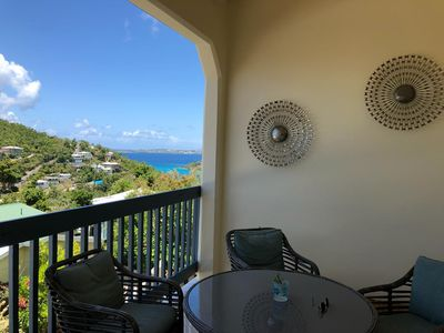 Photo for New 2BR villa w/ ocean view balcony near Cruz Bay