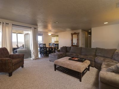 Photo for Beds for 8! 3Bed 2Bath, Bunkbeds for kids! Huge deck! Different pool every day!