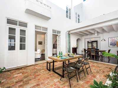 Photo for Former renovated Merchants Townhouse in Olhao sleeps 6, rooftop pool