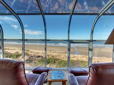 Photo for Lovely oceanfront home w/ stunning views, a solarium, & all the home essentials