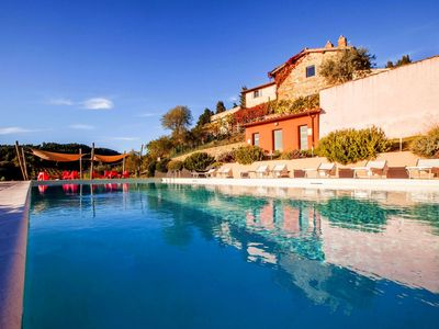 Photo for Sunlit Holiday Home in Pelago Italy with Pool and Sauna