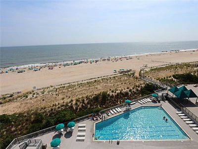 Photo for H805: 2BR+den Sea Colony oceanfront condo | Private beach, pools, tennis ...