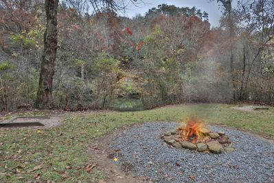 You will love relaxing around a fire and also like the occasional game of horseshoes in the horseshoe pit.