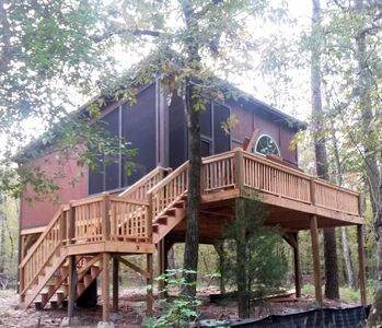 Photo for Romantic Cozy Cabin for couples retreat. Great for self distancing on the creek