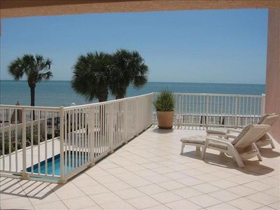Photo for Right on the Beach with Sunset Views and a Pool!