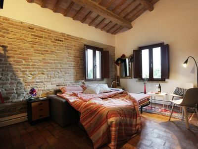 Photo for Quiet, comfortable B & B room in the heart of the Marche with 360 ° panorama