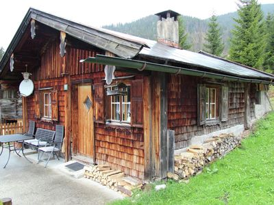 Photo for Romantic mountain hut in Heutal near Unken.