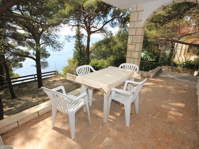 Photo for One bedroom apartment with terrace and sea view Marušići (Omiš) (A-957-b)