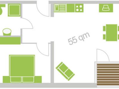 """Photo for Apartment 1 - 55 square meters (2-4 persons), balcony - """"Weichaer Hof"""" FBS Sonja Fritsch & Hagen Schmidt GbR"""