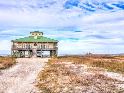 Photo for NEW LISTING! Dog-friendly, Gulf-front house w/ wrap-around deck & great views!