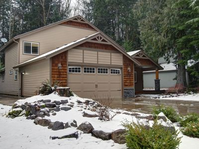 Photo for Large home w/ hot tub near golf, skiing, trails! Perfect for multi-family trips!