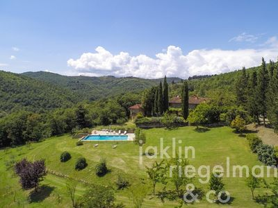 Photo for *Majestic stone villa with infinity pool which sweeps you into forested hills