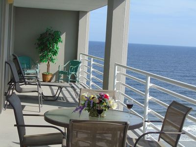 Relax on the balcony, beautiful ocean view and always a nice breeze