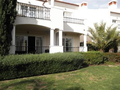 Photo for 3 bedroom Apartment, sleeps 7 with Pool, Air Con and Walk to Shops