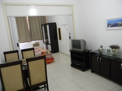 Photo for COPACABANA BLOCK FROM THE BEACH + CABLE TV + WI-FI AND BUILDING WITH 24 HOUR SECURITY!