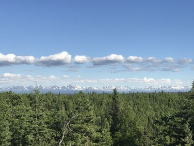 View of the Kenai National Wildlife Refuge from the deck.