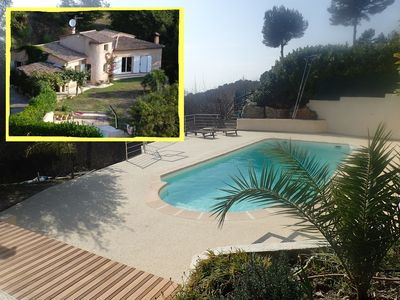 Photo for Villa Luna Gauda with pool not overlooked, very quiet,  near sea