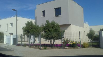 Photo for 200 meters from the beach, in a chic area, new villa with swimming pool.