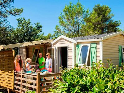 Photo for Camping La Plage d'Argens **** - Cozy 3-room mobile home 4 people