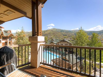 Photo for Top Floor 4 Bedroom Condo w/ Summer Mtn Views, a Pool, Hot Tubs & Fire Pit!