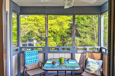 Wake up in the morning and drink your cup of coffee on the private balcony.
