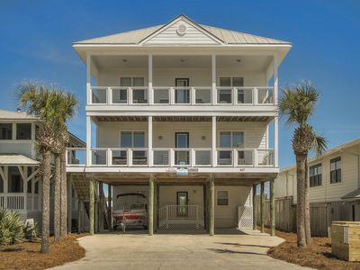 Photo for Seaspray SPECIAL 25% OFF 5/12-5/25  7bed7,5B pool, dock, Gulf/Lake/Beach view