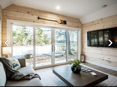 Photo for NEW! BIG SEBAGO LAKE, Luxury Modern Camp!