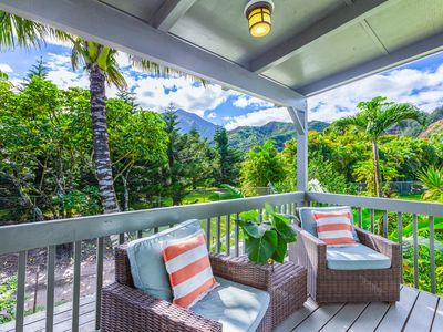 Photo for Hale Kanani, Newly Remodeled, AC, Steps to Hanalei Bay, Mountain & Waterfall Views,  TVNC 1342