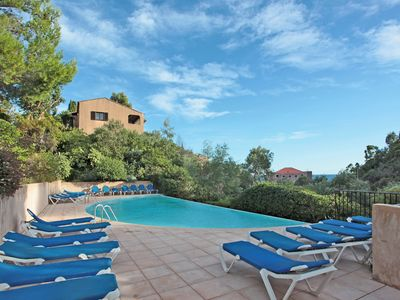 Photo for Attached villa with shared pool and beautiful view on the Côte d'Azur