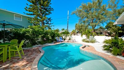 Photo for Fall Vacation Sale!!! Prices Reduced! A Mermaid's Lair: Beautiful Private Pool Home Just Across the Street From The Bay!