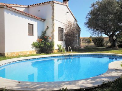 Photo for This 3-bedroom villa for up to 5 guests is located in Viladamat and has a private swimming pool and