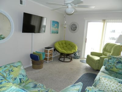 Large flat screen tv for relaxing in the living area
