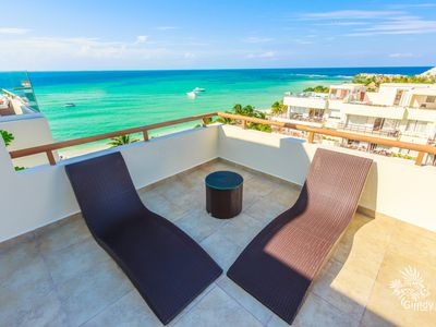 Photo for Location!! Amazing Views of the Famous North Beach,1 Bedroom Penthouse @ Ixchel!
