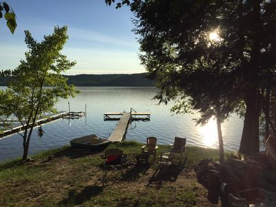 Photo for Lime Lake Cottage: 4 BR on Beautiful Wooded Lot & Lake Access (sleeps 10)