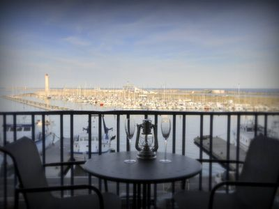 Photo for BALCONY TO THE SEA AND THE PORT OF SETE, spectacular view, air-conditioned 3 stars