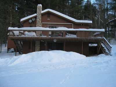 Photo for Skiers/Snowmobilers/MountainBikers Dream with Outdoor Jacuzzi + Wi-Fi